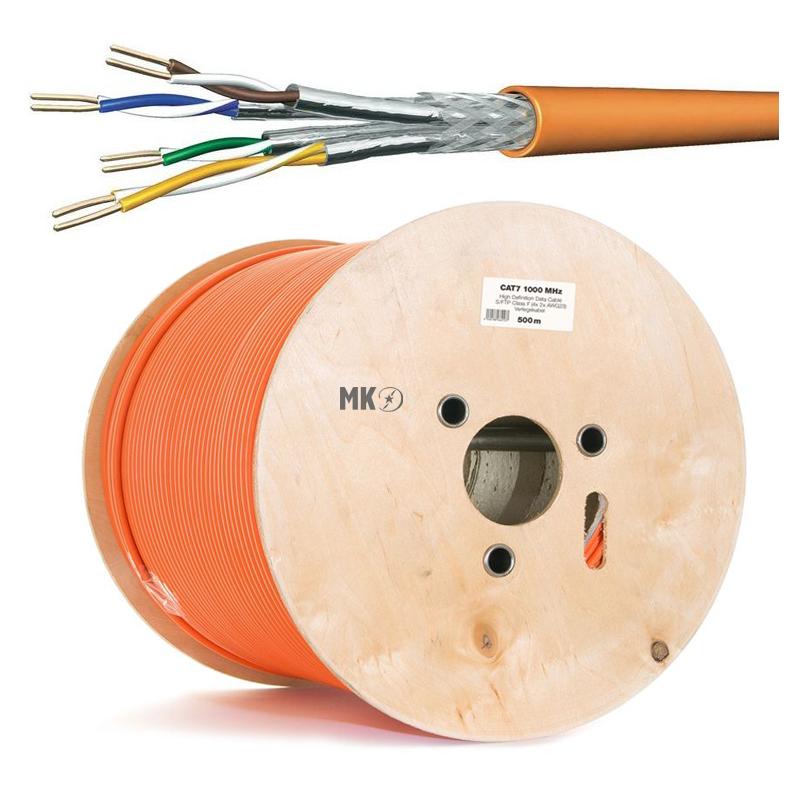 cat 7 netzwerkkabel verlegekabel 1000 mhz s ftp orange halogenfrei 50. Black Bedroom Furniture Sets. Home Design Ideas