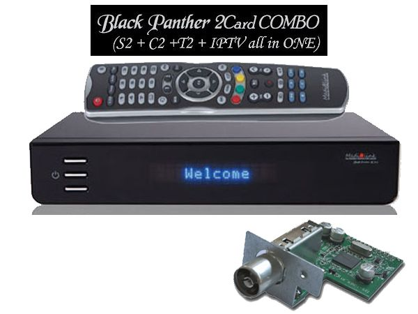 Medialink Black Panther HD 2xCX DVB S2/C2/T2 COMBO PVR LAN USB YouTube ...