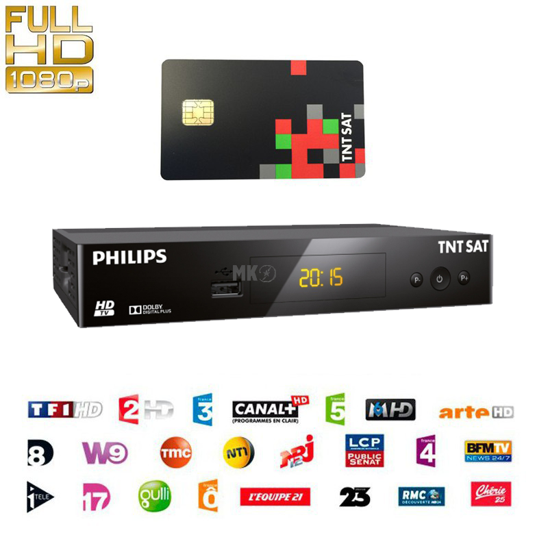 philips dsr3231t hdtv sat receiver f r tntsat mit karte 109 00. Black Bedroom Furniture Sets. Home Design Ideas