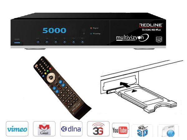 redline ts 5000 hd plus satelliten receiver hdtv incl hdmi kabel alles k nner ebay. Black Bedroom Furniture Sets. Home Design Ideas