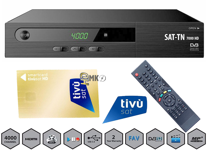 sat tn 7000 hd geeignet f r tivusat usb sat receiver mit tivusat. Black Bedroom Furniture Sets. Home Design Ideas