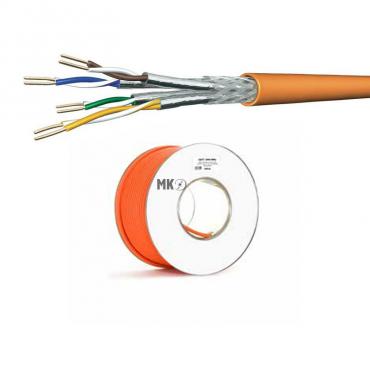 cat 7 netzwerkkabel verlegekabel 1000 mhz s ftp orange halogenfrei 10. Black Bedroom Furniture Sets. Home Design Ideas