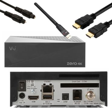 VU+ Zero 4K DVB-S2X Multistream  + Wifi Stick ,HDMI,Optisches Kabel