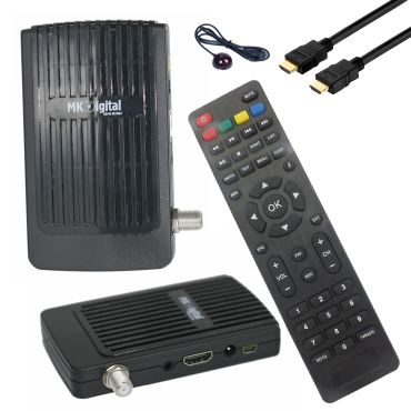 MK Digital HD-62se Mini 1080p FULL HD Sat Receiver HDMI, EPG USB Mediaplayer Astra-Hotbird-Türksat vorprogrammiert